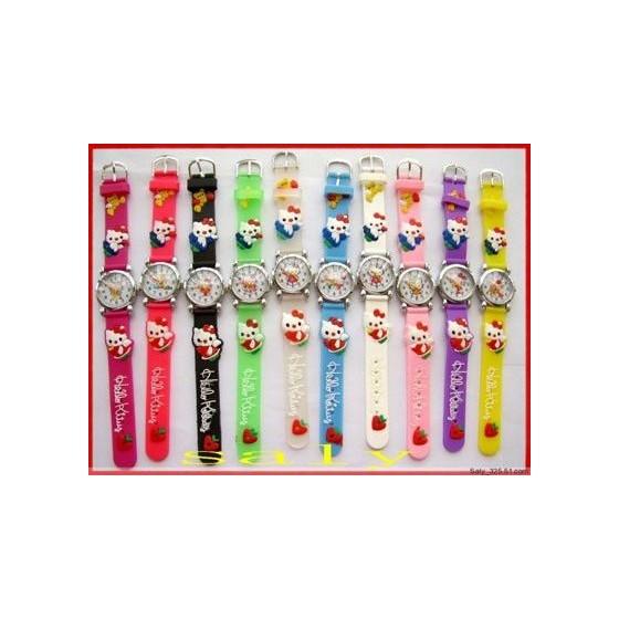 Reloj Hello Kitty Infantil Correa de Goma Barato