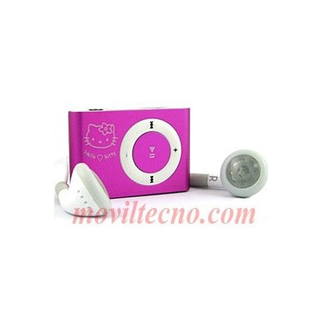 Mp3 Hello Kitty ROSA 4Gb Mini Reproductor Musica Barato