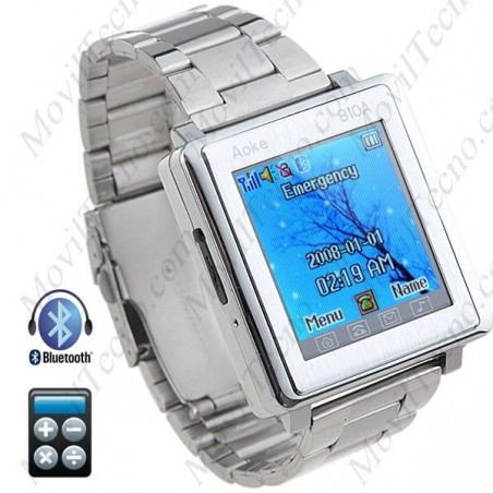 Reloj Movil Libre Bluetooth metalico Tactil Barato