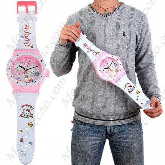 Reloj Hello Kitty Grande de pared Infantil Barato
