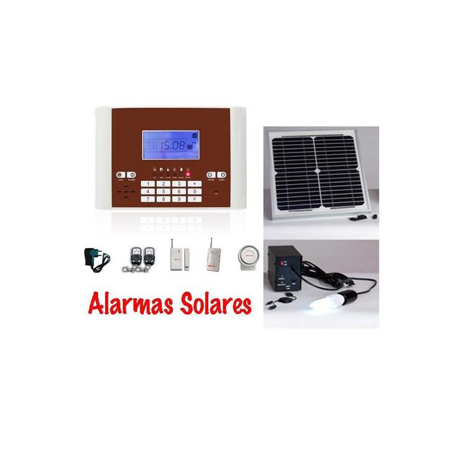 ALARMA SOLAR KIT Gsm Movil barata con bateria para Casas de Campo