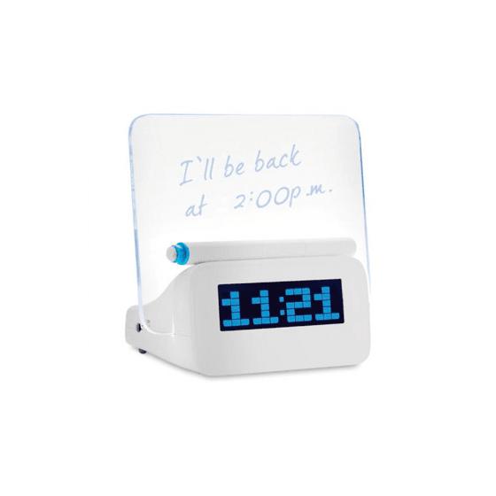 RELOJ Despertador Barato LED con pizarra USB