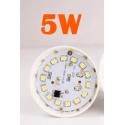 BOMBILLA de LED 5w rosca e27 blanca Barata