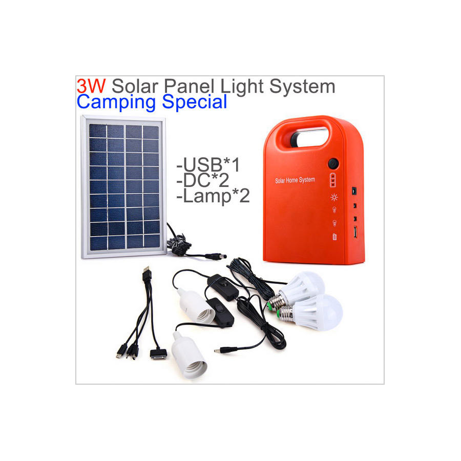 KIT SOLAR Barato portatil con luces