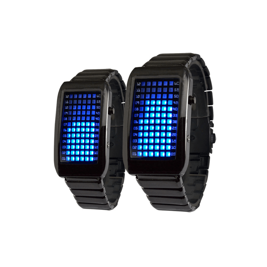 Reloj de Led 72 Azules Digital Acero Fashion Barato