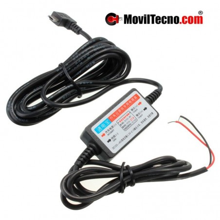 Cable convertidor 12 voltios conversor a micro Usb