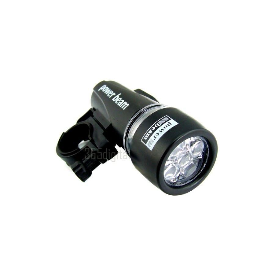 Linterna Luz 5 Led Bajo Consumo Digital Bicicleta Barata