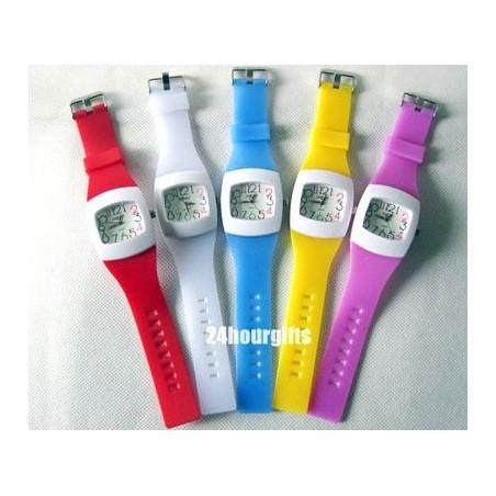 Reloj Analogico de Goma Colores Moda Fashion Barato
