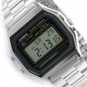 Reloj Digital Casio a158 Retro Vintage Fashion Plata Barato