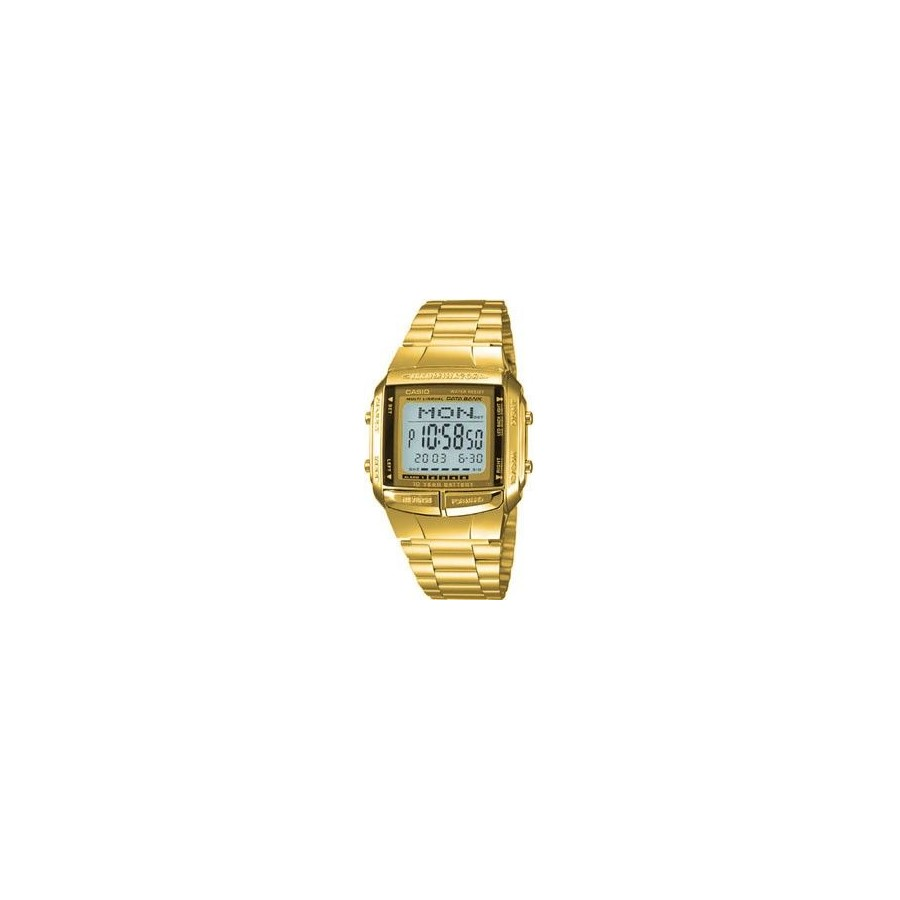 Reloj Digital Casio 360 Retro DataBank Fashion Dorado Barato