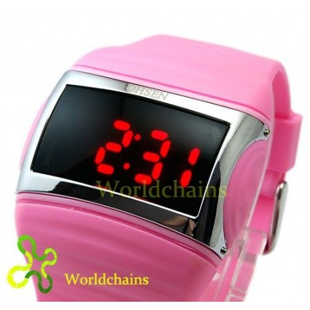 Reloj Digital Fashion de Led Rojos o Azules  Barato