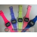 Reloj Digital Colores Retro de Goma Fashion Barato