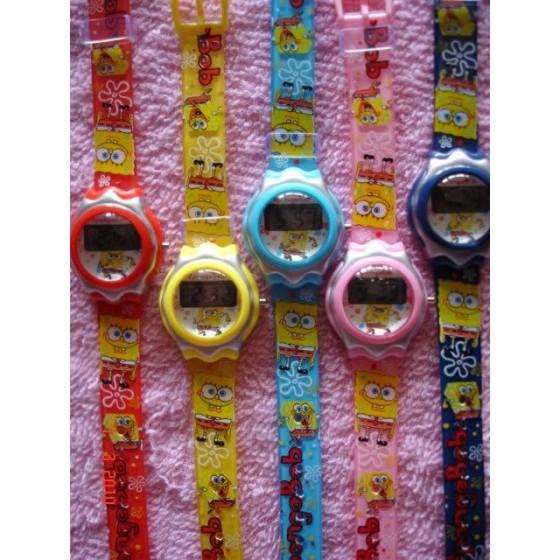 Reloj Bob Esponja Digital Infantil de Goma Barato