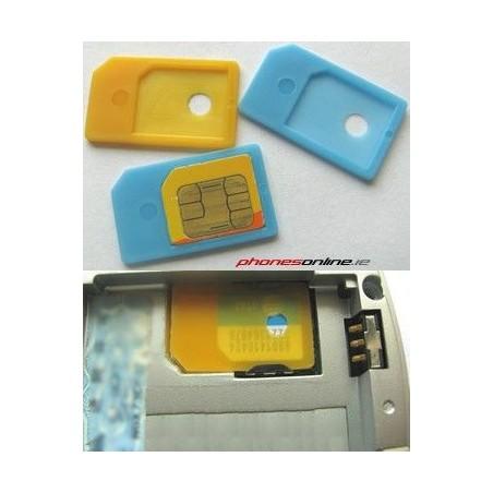 Adaptador Convertidor de tarjetas MICROSIM Iphone 4 e Ipad BARATO