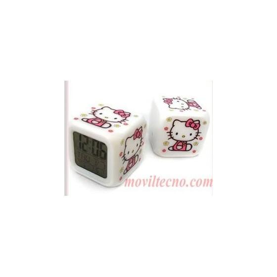 Despertador Digital Hello Kitty Con Termometro Barato