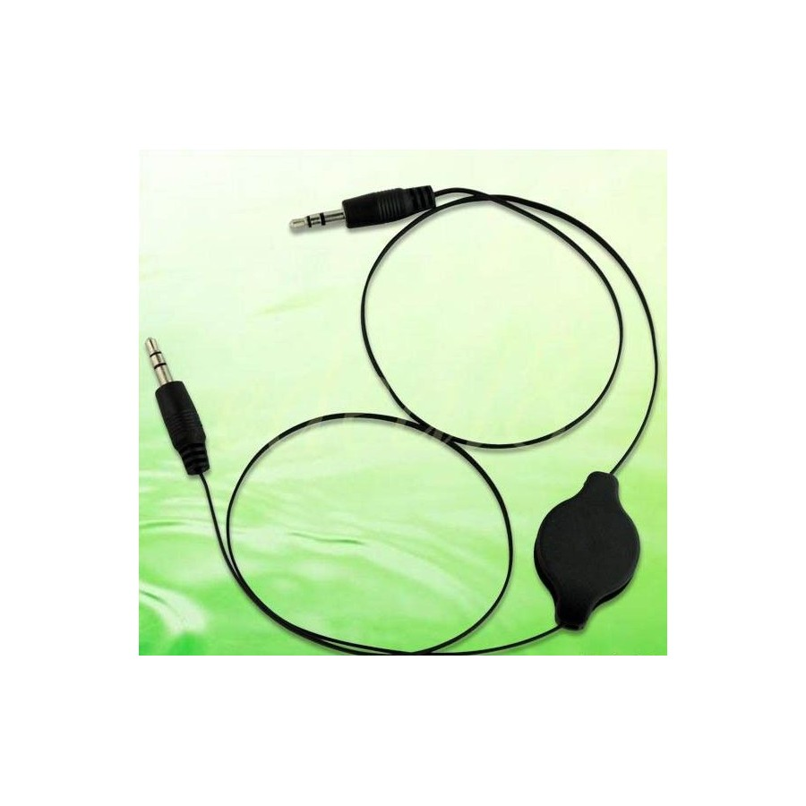 CABLE JACK 3,5 mm macho en las 2 puntas para IPHONE Mp3 Mp4 Barato