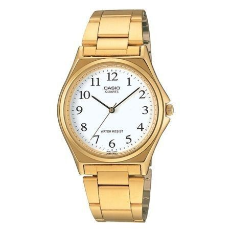 Reloj Analogico Casio Mtp-1130 Grande Retro Fashion Dorado Barato