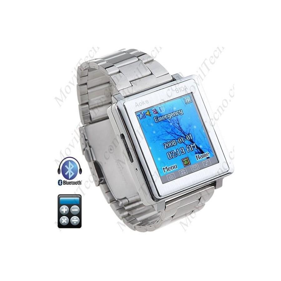 Reloj Movil Libre Bluetooth metalico Tactil Barato