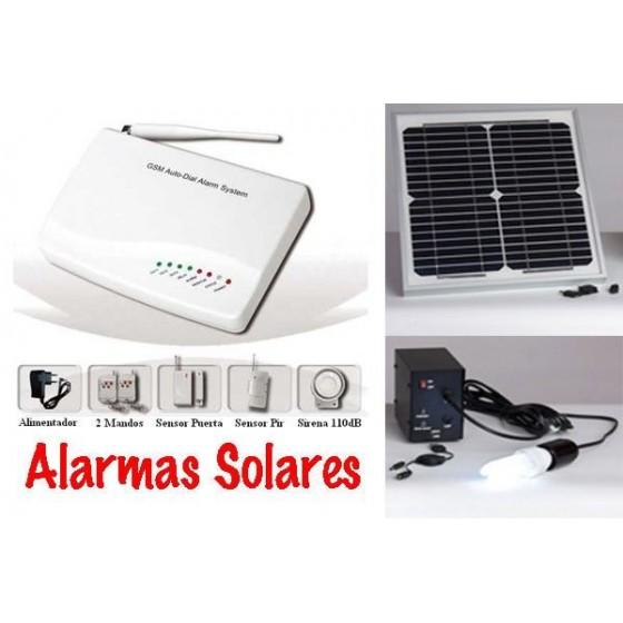 Alarma con placa solar