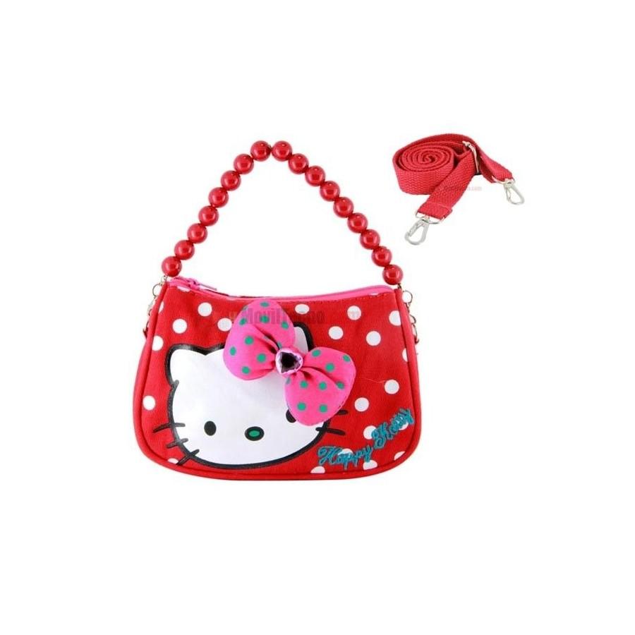 BOLSO de Hello Kitty Rojo para mujeres y niñas Barato