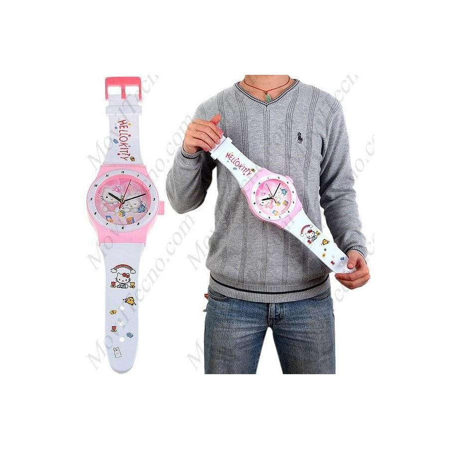 Reloj Hello Kitty Grande de pared Infantil Barato