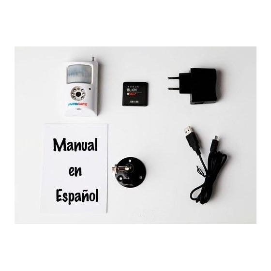 Camara SEGURIDAD Barata 32Gb Infrarrojos y grabador en tarjeta
