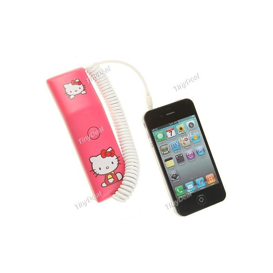 Auricular RETRO Telefono HELLO KITTY para Moviles Barato