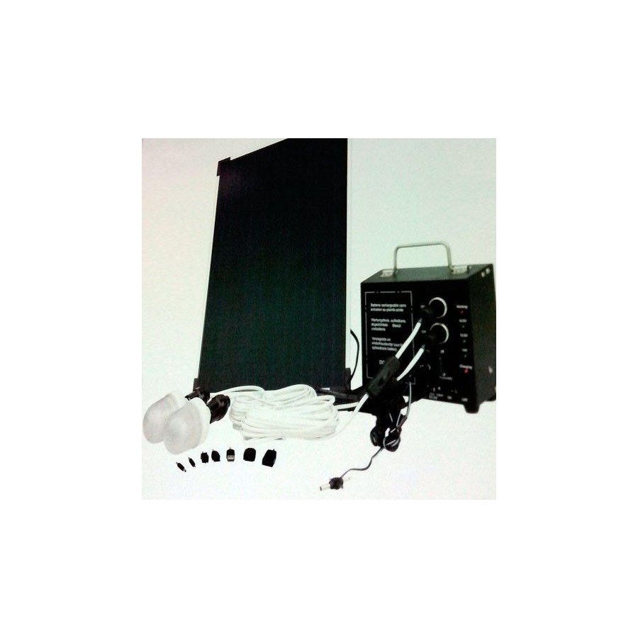 KIT SOLAR Barato con Placa Bateria Cargador e Iluminacion