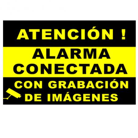 CARTEL de Alarma Conectada con Camaras