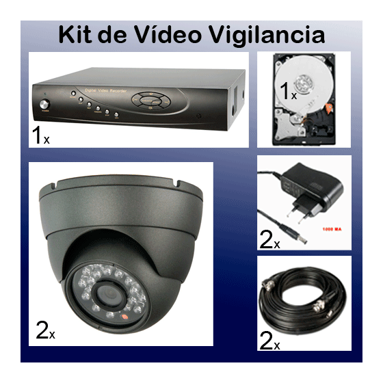 Kit de video grabacion de seguridad barato en disco duro