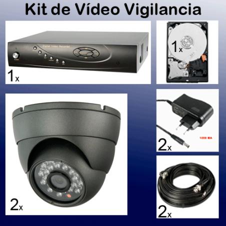 Kit de video grabacion de seguridad barato en disco duro
