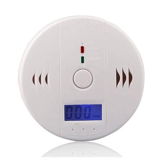 Alarma Sensor detector de Monóxido de carbono CO