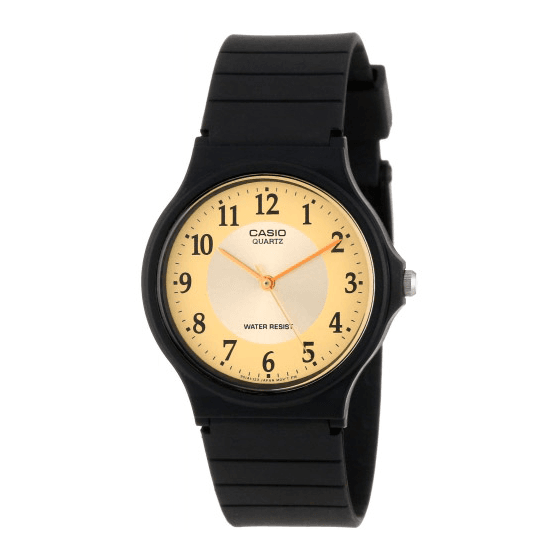 Reloj Casio goma de caballero Retro Dorado Barato