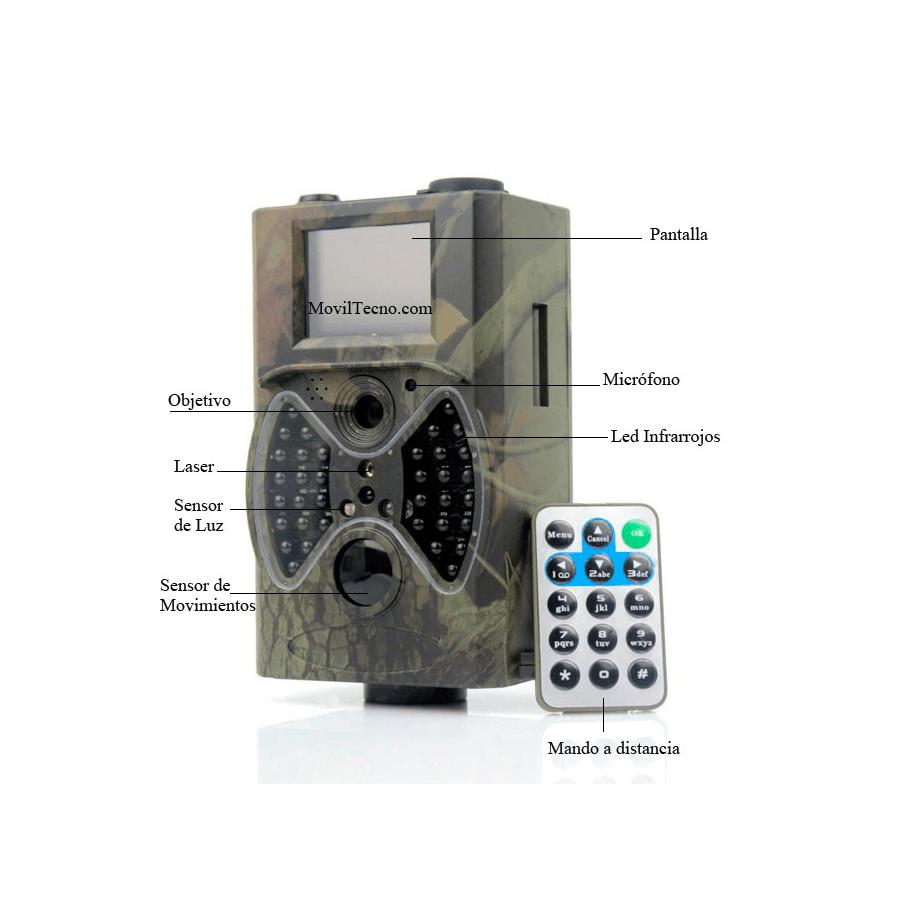 Camara caza nocturna barata con LED infrarrojos para invernaderos