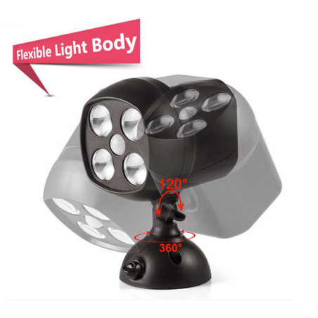 Foco farol lampara luz LED a pilas barata