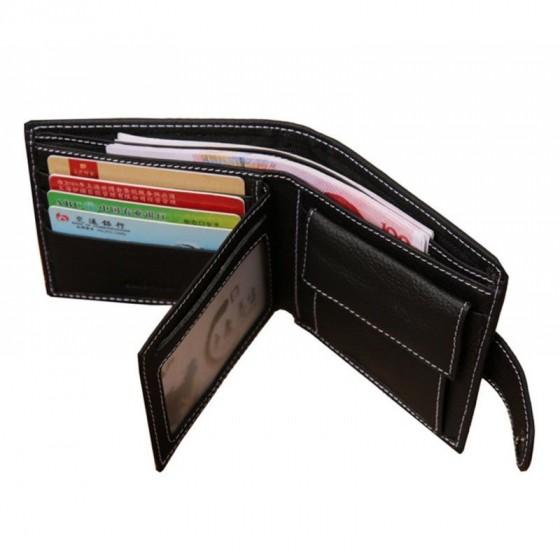 Cartera Billetera monedero de Piel para caballero