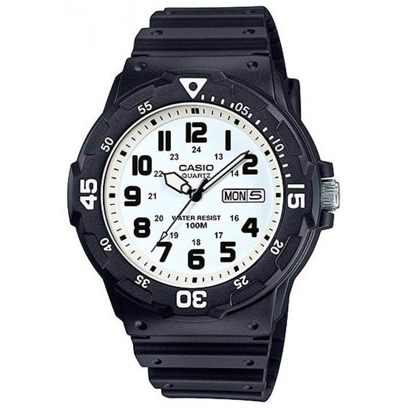 c2ee96c84f15 Reloj Casio goma de caballero resistente 100 metros