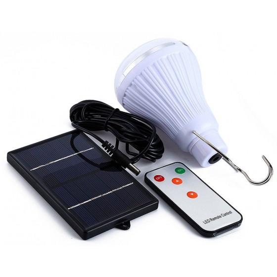 Lampara KIT SOLAR con bombilla LED recargable