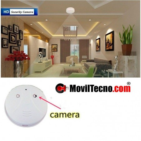 Sensor detector de Humos con camara oculta espia HD