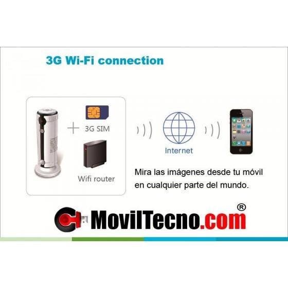 Cámara con alarma 3G gsm móvil y WIFI