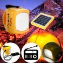 Lampara LED linterna SOLAR con radio FM
