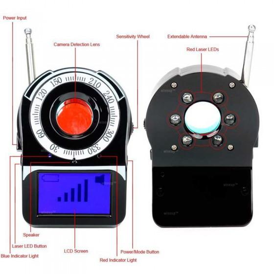 CONTRAESPIONAJE Detector de micrófonos y cámaras ocultas espia