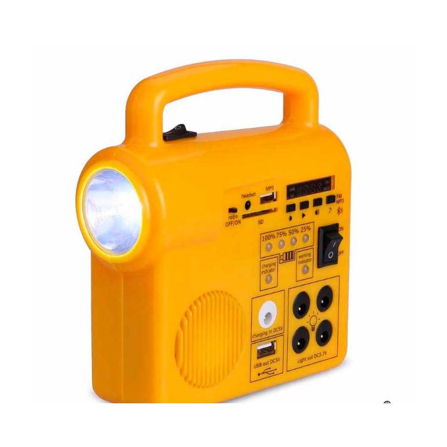 KIT SOLAR con cargador Radio Mp3 linterna portatil