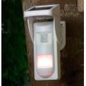 Alarma sin luz eléctrica con placa solar