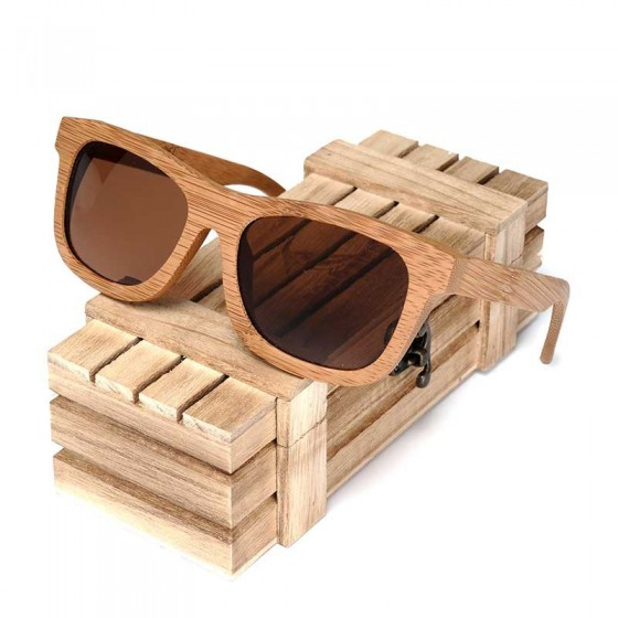 Gafas de sol madera bambú premium