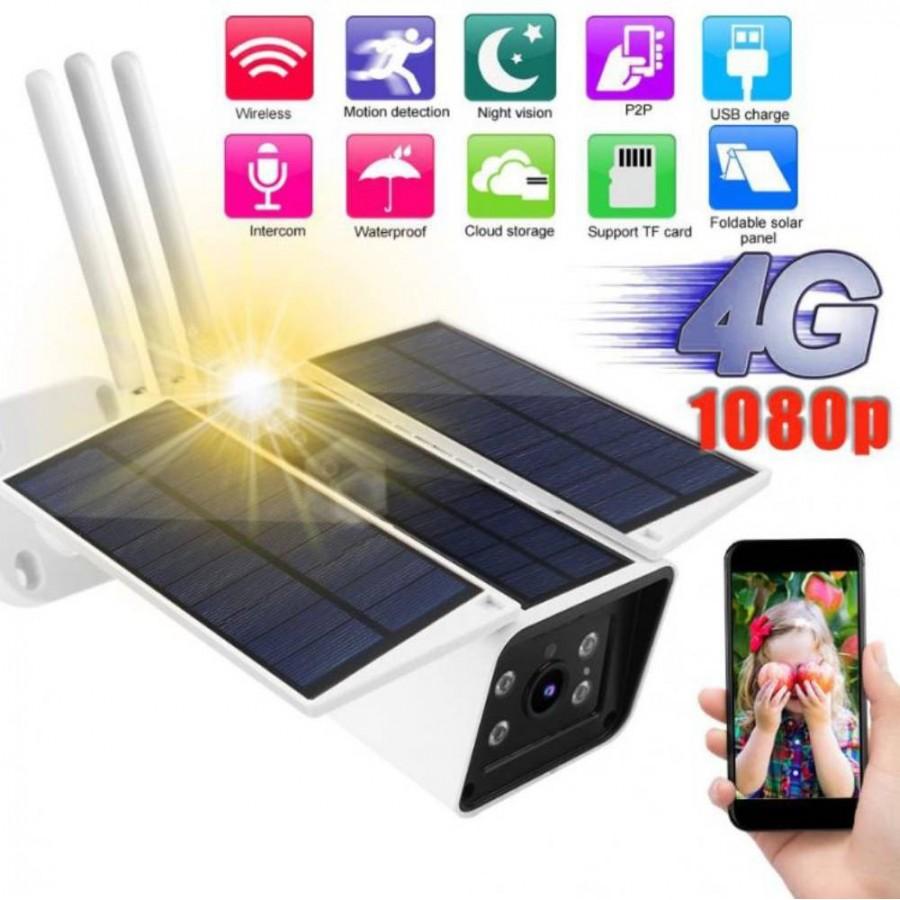 Cámara vídeo vigilancia alarma 4G SOLAR sin luz