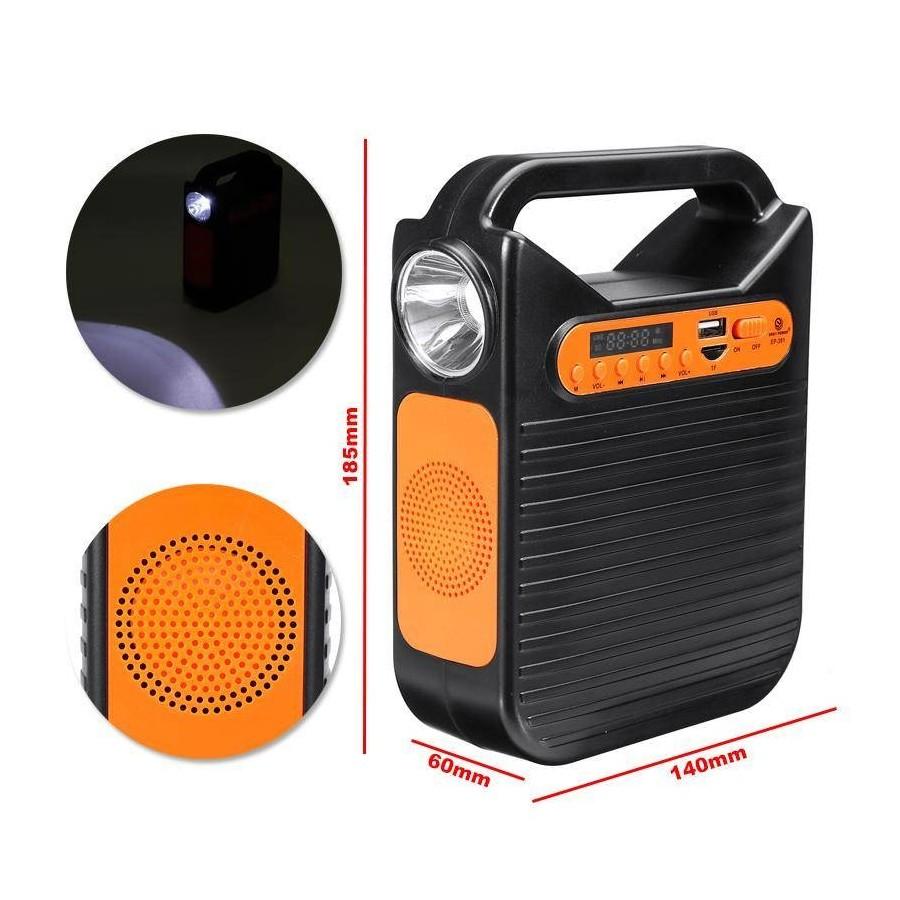 CARGADOR SOLAR Kit completo con cargador Radio Mp3 LUZ MovilTecno 816