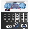 Espejo retrovisor con 3 cámaras de vigilancia MovilTecno 817