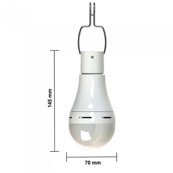 BOMBILLA SOLAR con lampara LED recargable MovilTecno 825