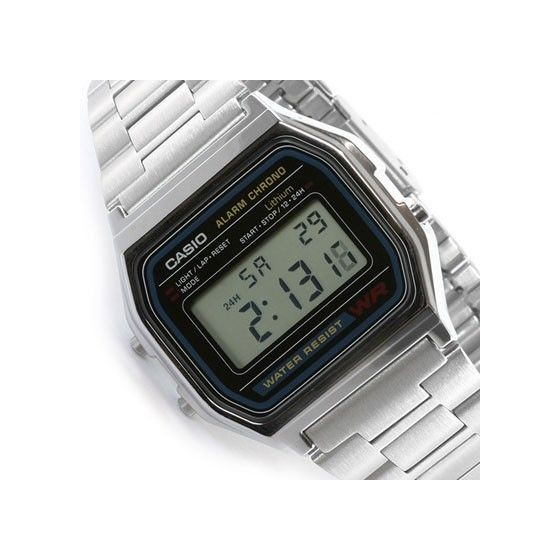 Reloj Digital Casio a158 Retro Vintage Fashion Plata Barato